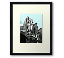 Geometric SkyScraper of Glass in Times Square, NYC Framed Print