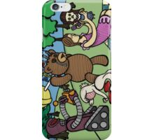 Teddy Bear And Bunny - Remote Control iPhone Case/Skin