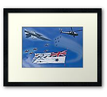 Aircraft from Sydney Navy Review Framed Print