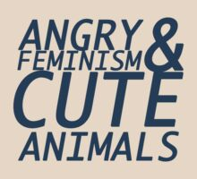 Angry Feminism and Cute Animals by aymzie