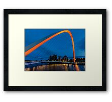 Gateshead at Night Framed Print