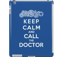 Keep Calm And Call The Doctor (Gallifreyan Version) iPad Case/Skin