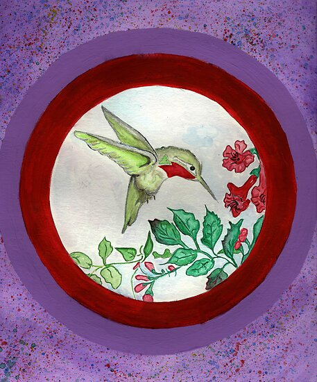 Humming Bird Circle by Anne Gitto