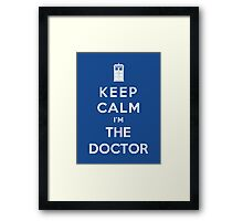 Keep Calm I Am The Doctor Framed Print