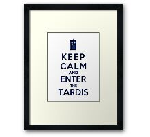 Keep Calm And Enter The Tardis (Color Version) Framed Print