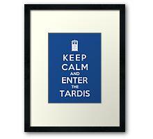 Keep Calm And Enter The Tardis Framed Print