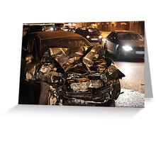 accident at night Greeting Card