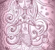 Yoga Gypsy - She Is a Girl of Many Colors - 2014 Calendar by erica lubee  ~ SkyBlueWithDaisies