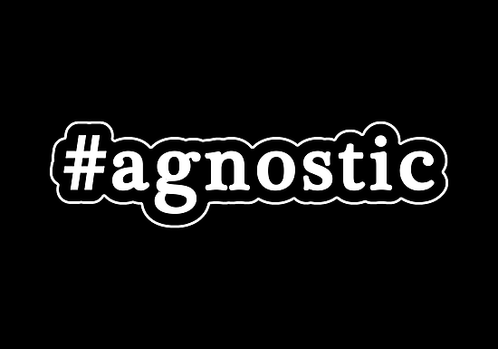 Agnostic - Hashtag - Black & White by graphix