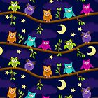 owls in the night by Ancello