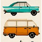 Classic Car Pixel Art by Eleanor Lutz