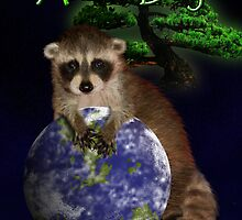 Arbor Day Raccoon by jkartlife