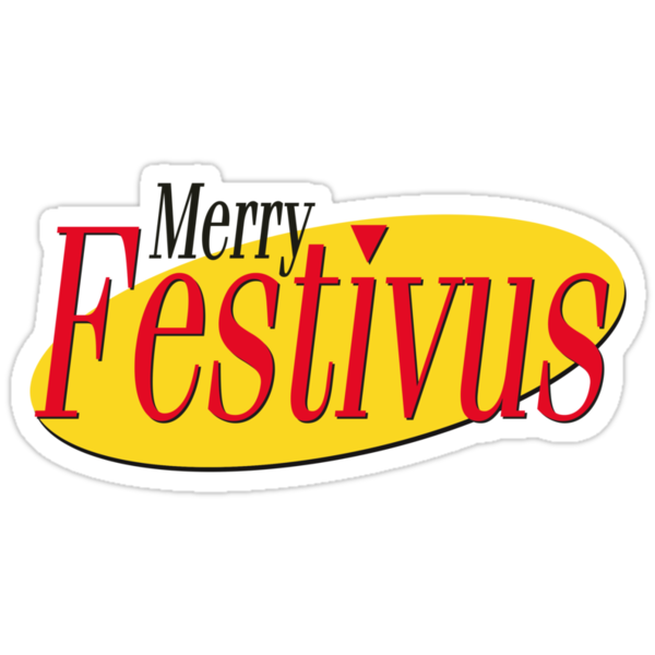 merry festivus ( red ) . seinfeld by timmehtees