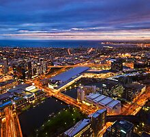 Melbourne by Night by Ray Warren