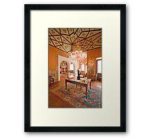 Sala dos Trevos. Palácio dos Condes Castro Guimarães Framed Print