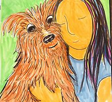 Daily drawing fourteen - love by carol selchert