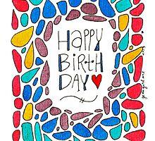 Happy Birthday Rainbow Doodle by gemgirlart