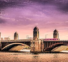Longfellow Bridge, Boston MA by LudaNayvelt