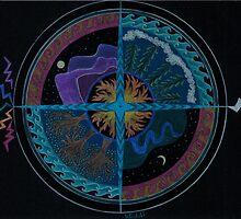 Four Elements Cross by Heddi Neale