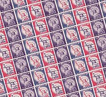 Liberty Stamps Collage by morningdance