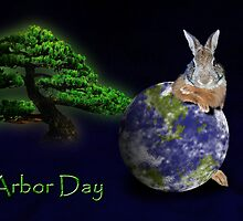 Arbor Day Bunny Rabbit by jkartlife