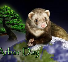Arbor Day Ferret by jkartlife