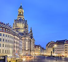 Neumarkt and Frauenkirche, Dresden by Michael Abid