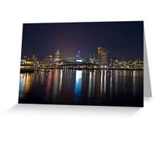 Harbour Lights Greeting Card