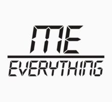 Me Over Everything Fraction (Black) by TheLD