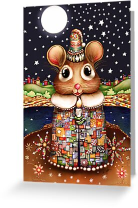 Little Bright Eyes the Radiant Christmas Mouse by © Karin  Taylor