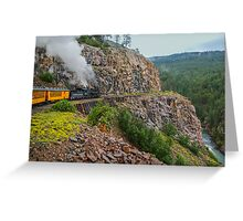 Mountain Top Train Ride Greeting Card