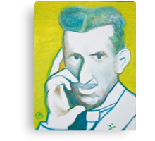 The Nikolai Tesla in green blue in oil painting! Canvas Print