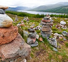 Highland Rock Piles by Adrian Alford Photography