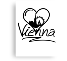 Vienna Heart Canvas Print