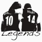 Dennis Bergkamp and Thierry Henry - Legends DB10 TH14 by Thierry Henry14.net
