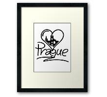Prague Heart Framed Print