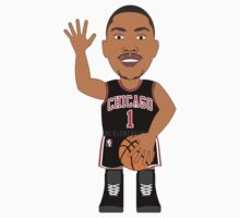 NBAToon of Derrick Rose, player of Chicago Bulls - The Return by D4RK0