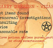Harry Dresden Business Card by Abatashi