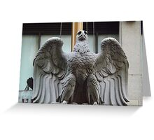 Original Pennsylvania Station Eagle Sculpture, Penn Station, New York City Greeting Card