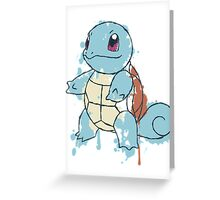 Squirtle Painted  Greeting Card