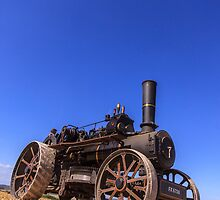 Steam Engine On A Summers Day by Steven Dworak
