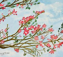 silk floss tree flowers art print by derekmccrea