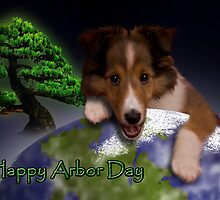 Happy Arbor Day Sheltie Puppy by jkartlife