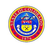 Colorado   State Seal   SteezeFactory.com Photographic Print