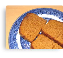 Come join me in some ginger cake! Canvas Print