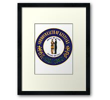 Kentucky | State Seal | SteezeFactory.com Framed Print