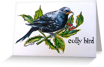 Colly. ('Four colly birds'...) The 'Twelve days of Christmas'. by Elizabeth Moore Golding