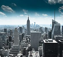 Empire state building and its surrounds, Manhatten, NYC 2012 by jasecartwright