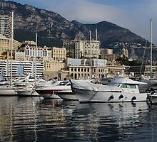 Monte Carlo Harbor, Monaco, French Riviera  by Georgia Mizuleva