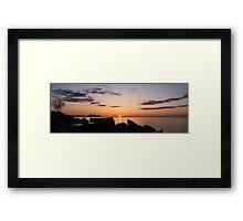 Toronto Skyline Panorama at Sunrise Framed Print